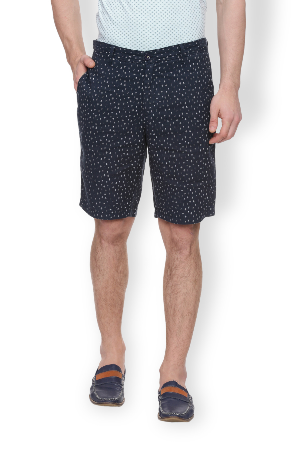 2e4fb6dd88 Van Heusen Sport Shorts, Van Heusen Blue Shorts for Men at  Vanheusenindia.com