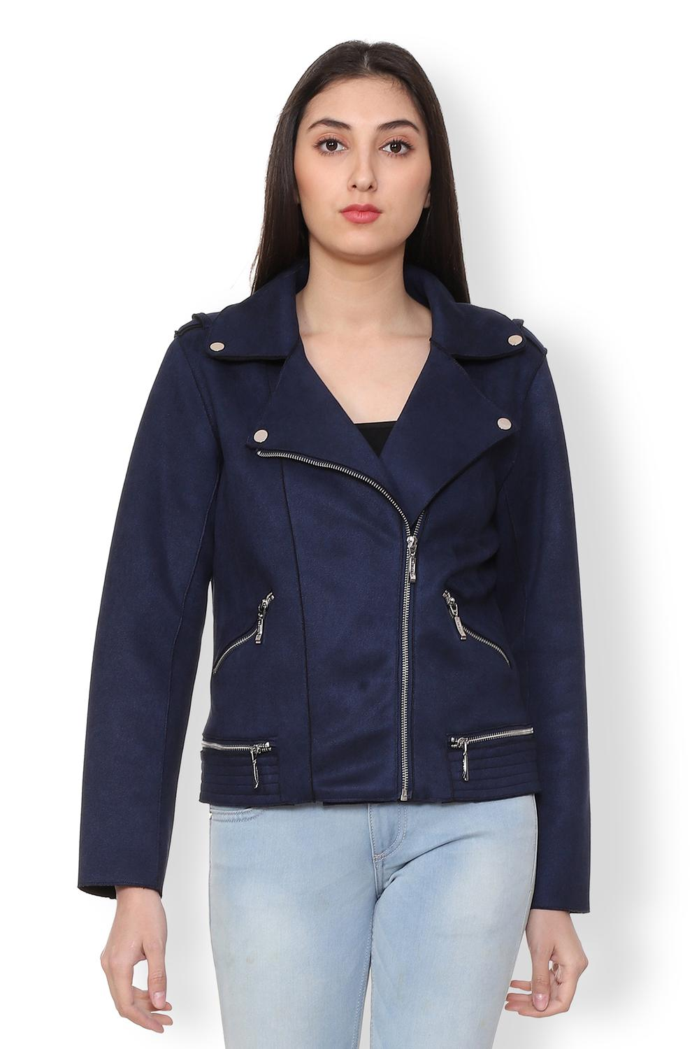 0d462acd69e Allen Solly Jackets & Overcoats, Allen Solly Navy Jacket for Women at  Allensolly.com