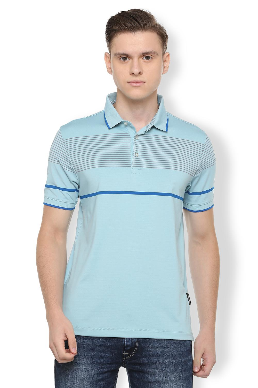 c7bb01d316 Van Heusen T-Shirts, Van Heusen Blue T Shirt for Men at Vanheusenindia.com